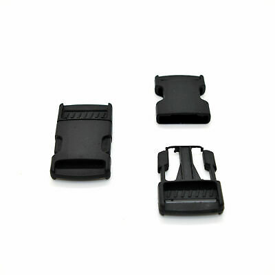 Black Side Release Plastic Buckles Clips For Webbing Bags Straps 10mm to 50mm 4