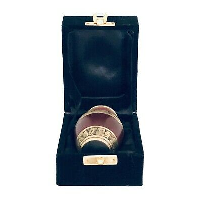 Well Lived® Red and Brass Small Keepsake Cremation Urn for human ashes 4