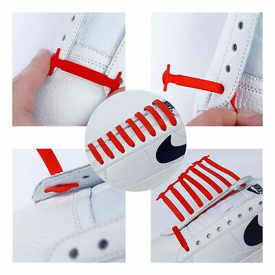 Elastic Silicone No Tie 'Lazy' Shoe Laces Shoelaces Trainers Shoes Adult & Kids❤ 12