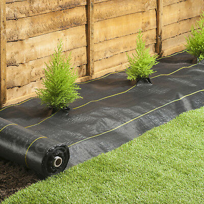 4m Extra Heavy Duty garden weed control fabric ground cover membrane landscape 4