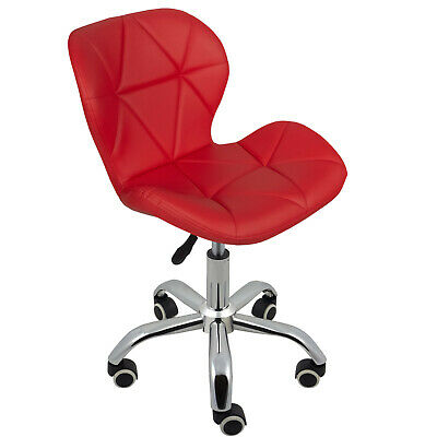 Cushioned Computer Desk Office Chair Chrome Legs Lift Swivel Small Adjustable 10