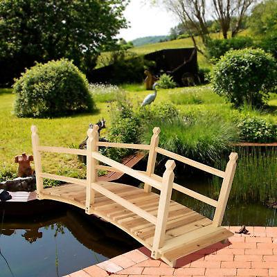 PONT DE JARDIN extérieur décoration bassin fontaine bois passerell ...
