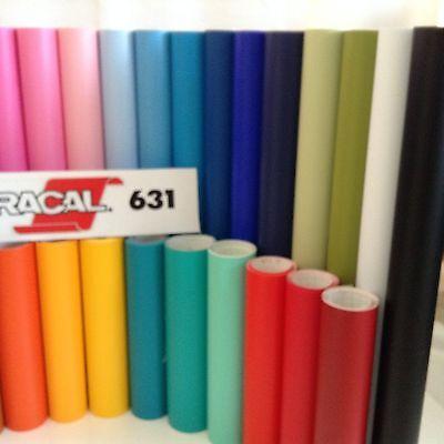 """Oracal 631 Matte Colors  Craft Vinyl Sign /& Cutter 10 rolls 12/"""" x 5 ft.//roll"""