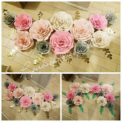 7 Paper Flower Setbaby Shower Decor Backdrop Baby