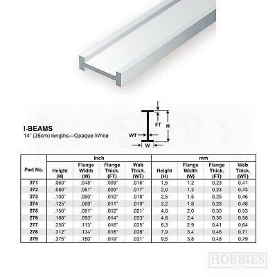 Evergreen Strip Styrene Rods Tubes Angles Model Scratch Building Plastic Build 7