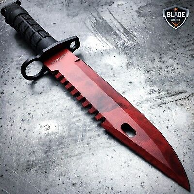 "13"" CSGO Tactical Fixed Blade Survival Hunting Knife Bayonet Military Bowie New 5"