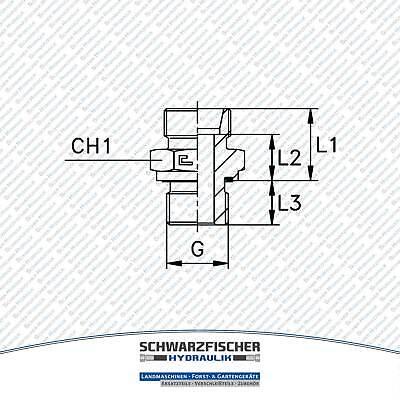 Einschraubverschraubung GE Hydraulik zölliges Gewinde Baureihe L Größe wählbar 9
