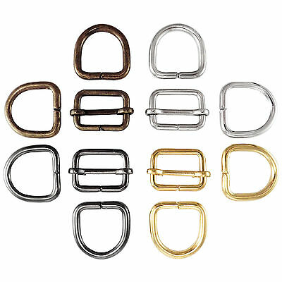 Bag strap slider adjuster and D rings set  20 25 30 35mm multi colours available 2