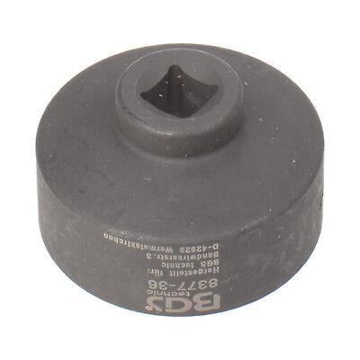 """Llave Filtro 36mm Vaso Perfil Bajo para Carraca 3/8 """" - Bgs 8377-36 2"""