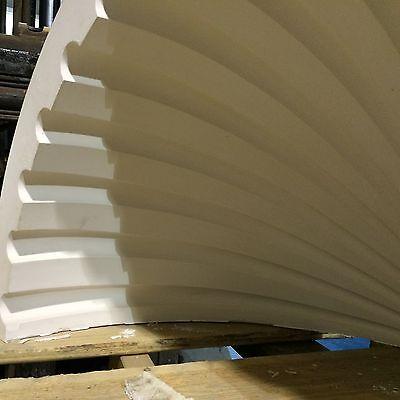 2 Fluted NICHE CAP SHELLS (Handmade) Absolute Spectacular! Achitectural Plaster 5