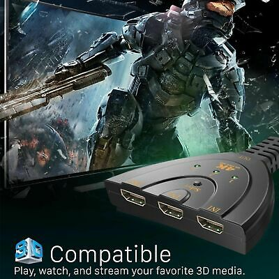 HDMI Splitter 3 Port HDMI Switch Switcher 3 in 1 Out 4K Hdmi Converter Adapter 6