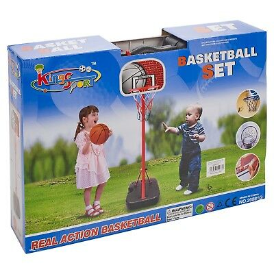 Free Standing King Sport Kids Basketball Hoop Net Set Backboard Stand Children 10