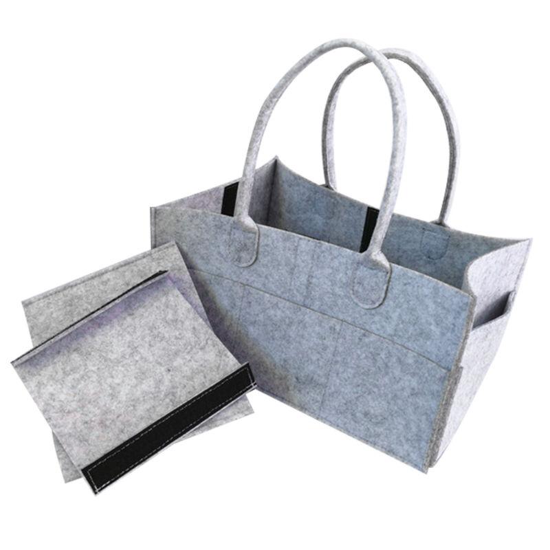 Baby Diaper Wipes Bag Caddy Nursery Storage Bin Infant Nappy Organizer Basket 2