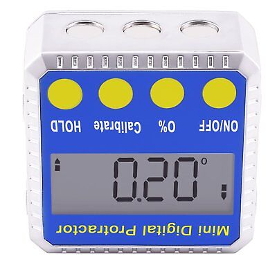 Digital BEVEL BOX Inclinometer Angle Gauge Meter Protractor 360° with Magnets 10