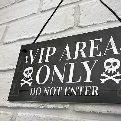 Outdoor Pub Sign Garden Sign,Hanging Bar Sign VIP Scroll Shaped Sign VIP AREA