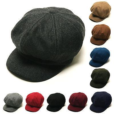 7bd3c59428574 1 of 7FREE Shipping Unisex Mens Womens Wool Uni Plain Baker Boy Flat Cap  Newsboy Cabbie Gatsby Hats