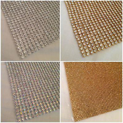 Termoadhesivo Chaton Tira en Pedrería Silver Rainbow Cristal & Dorado Ab 3