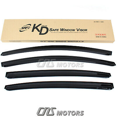 Smoked Window Sun Vent Visor Rain Guards 4PCS for 2012-2017 Kia Rio Sedan 4Door 4