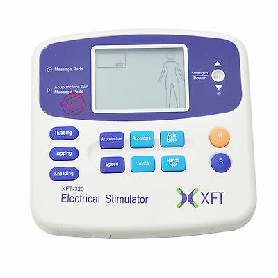 TENS Machine Massager Unit XFT320A +Acupuncture Pen w/Extra Pads BUNDLES Physio 7