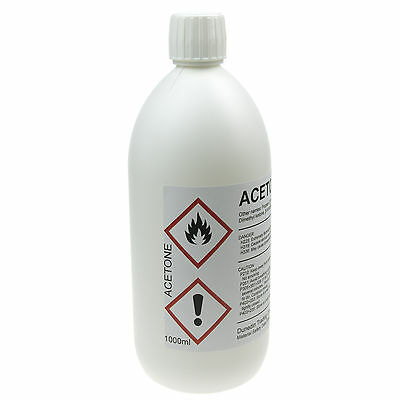 1 Litre (1000ml) High Quality Pure ACETONE - 1L HDPE bottle with Child Proof Cap 2