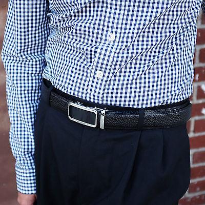 Falari® Men's Genuine Leather Dress Ratchet Belt 35mm Adjustable Size 7011 4