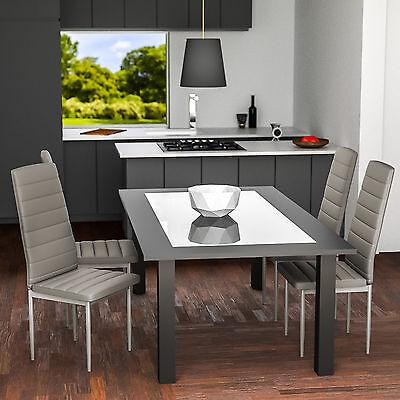 1 sur 6livraison gratuite 6x chaise de salle manger ensemble salon design chaises cuisine gris