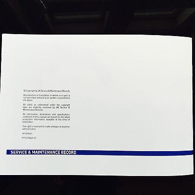 History Maintenance Record Portfolio PEUGEOT 206 cc convertible Service Book