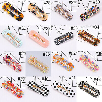 Fashion Women's Hair Slide Clips Snap Barrette Hairpin Pins Hair Accessories 8