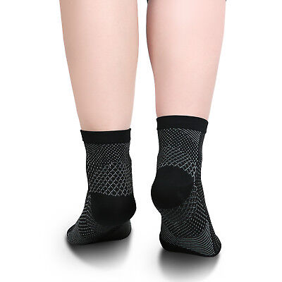Foot Sleeve Plantar Facilities Compression Socks Sore Achy Swelling Heel Ankle 7