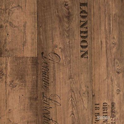 pvc 8 50 m cv vinyl bodenbelag rustikal dunkel schrift aufdruck breite 4 m eur 1 00. Black Bedroom Furniture Sets. Home Design Ideas