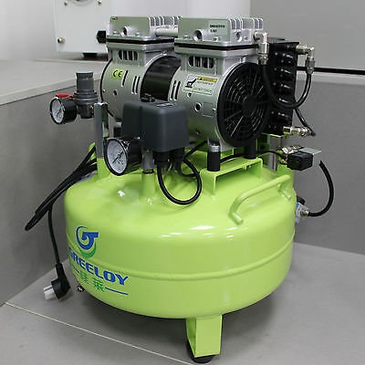 24L Dental Oil Free Oilless Noiseless Air Compressor with Air Dryer 118L/min 2