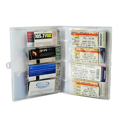 Concert Ticket Collection Album, 10 Ticket Pages Included, Holds 40-80 Tickets 3