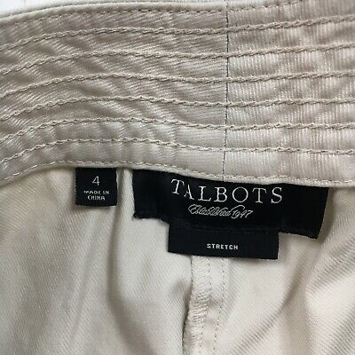 Talbots Womens Size 4 Beige Croped Capri Pants 3