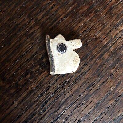 Ancient Egyptian Eye of Horus Bead Pendant Alabaster Faience Amulet 664-332 BCE 2