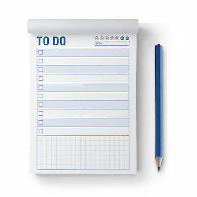 TODO- 17x12cm 22578 2fbg To-Do Liste-Notizblock-Notizen- Schmierzettel