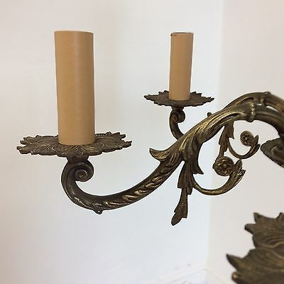 Antique Style Vintage Black and Brass 6 Arm Chandelier 4