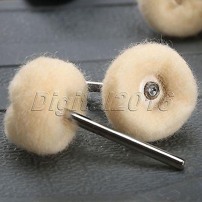 10pcs 25mm Polishing Buffing Wool Wheel For Dremel Grinder Rotary Tool (69) 4