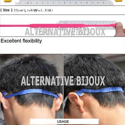 Laccio per occhiali lettura sport sole in silicone elasticizzato colorato nero 2