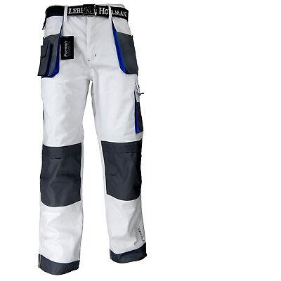 Arbeitshose Malerhose Bundhose Arbeitskleidung 11 Taschen LH Weiß Blau Gr. 46-62