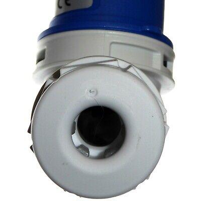 16A 3 Pin Angled Plug 1 Phase IP44 Caravan Camping 2P+E 230V Garo 16 Amp Blue 5