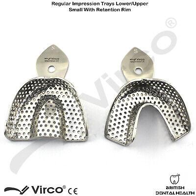 Dental Impression Trays Rim Lock Perforated Regular S, M, L Upper / Lower CE 4