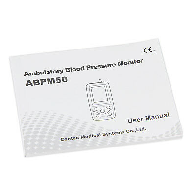 24Hr Ambulatory Digital Blood Pressure Monitor,Holter NIBP CONTEC ABPM+3 cuff,CE 7