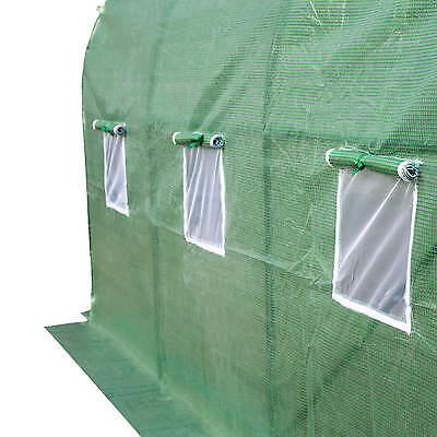 Serre tunnel de jardin 6 fenetres bâche verte maraîchère metal serres PE 7m² 6