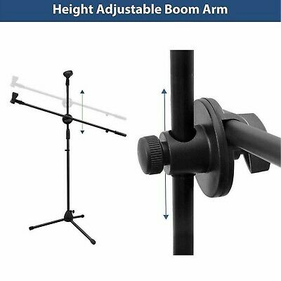 Professional Boom Microphone Mic Stand Holder Adjustable With Free Clips New 3