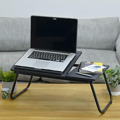 Laptop Table Folding Desk Stand Bed Tray Sofa Computer Study Adjustable Portable 2