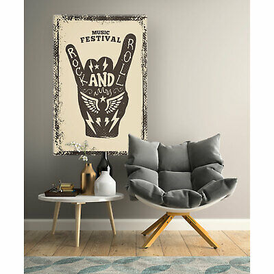 Music Festival Schild Party Retro alt Rock and Roll Postereck Leinwand 1130