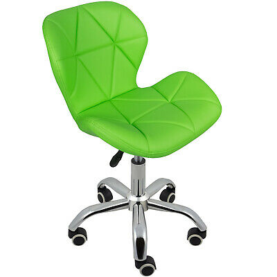 Cushioned Computer Desk Office Chair Chrome Legs Lift Swivel Small Adjustable 12