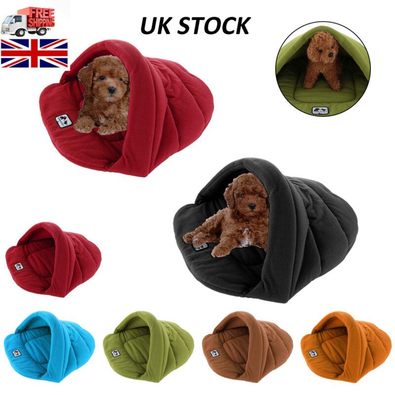 Pet Cat Dog Nest Bed Puppy Soft Warm Cave House Winter Sleeping Bag Mat Pad 2