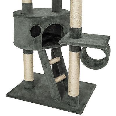 Arbre à chat XXL griffoir grattoir jouet animaux douillet geant peluché gris 3