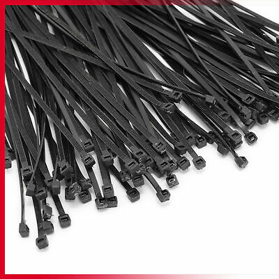 Cable Ties Zip Ties Nylon UV Stabilised 100/200/500/1000 x Bulk Black Cable Tie 2